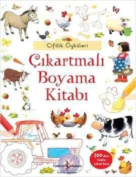 çiftlik öyküleri çıkartmalı Boyama Kitabı Türkiye Iş Bankası
